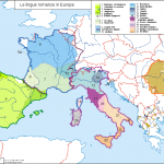 Map of the Romance languages